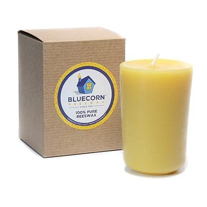 55d76d011a7 bluecorn Cera de abeja 100% pura cera de abejas 8.5oz vidrio Recambio para  vela