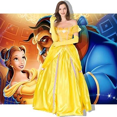 SC Vestido De Princesa De Campana Amarilla Para Adultos De ...