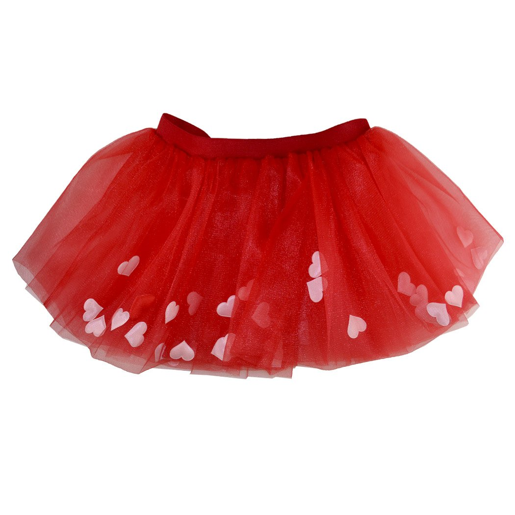 Gone For a Run Runners Premium Tutu Lightweight | One Size Fits Most | Colorful Running Skirts | Red Hearts by Gone For a Run