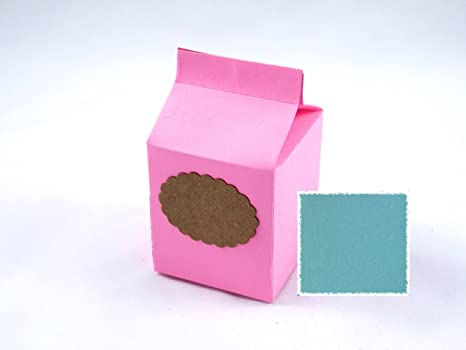 Pack de 10 Cajas estilo carton de leche (Azul)