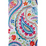 Summertime Watercolor Floral Paisley Vinyl Flannel Back Tablecloth (60