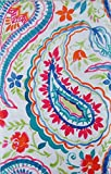 Best Elrene Patio Tables - Summertime Watercolor Floral Paisley Vinyl Flannel Back Tablecloth Review