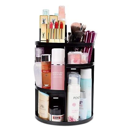 DreamGenius 360 Rotating Makeup Organizer, DIY Adjustable Makeup Carousel Spinning Holder Storage Rack, Large