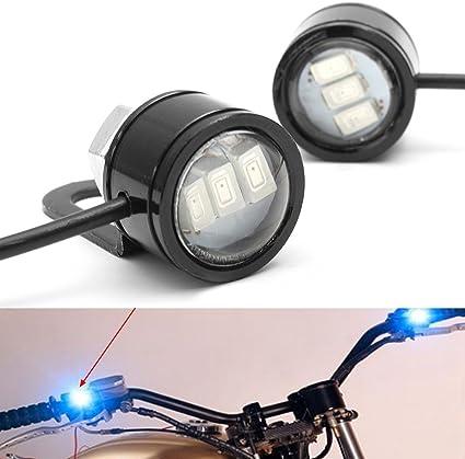 Blue Viviance 2pcs LED Eagle Eye Lamp Strobe Flash DRL Bicycle Motorcycle Car ATV Light