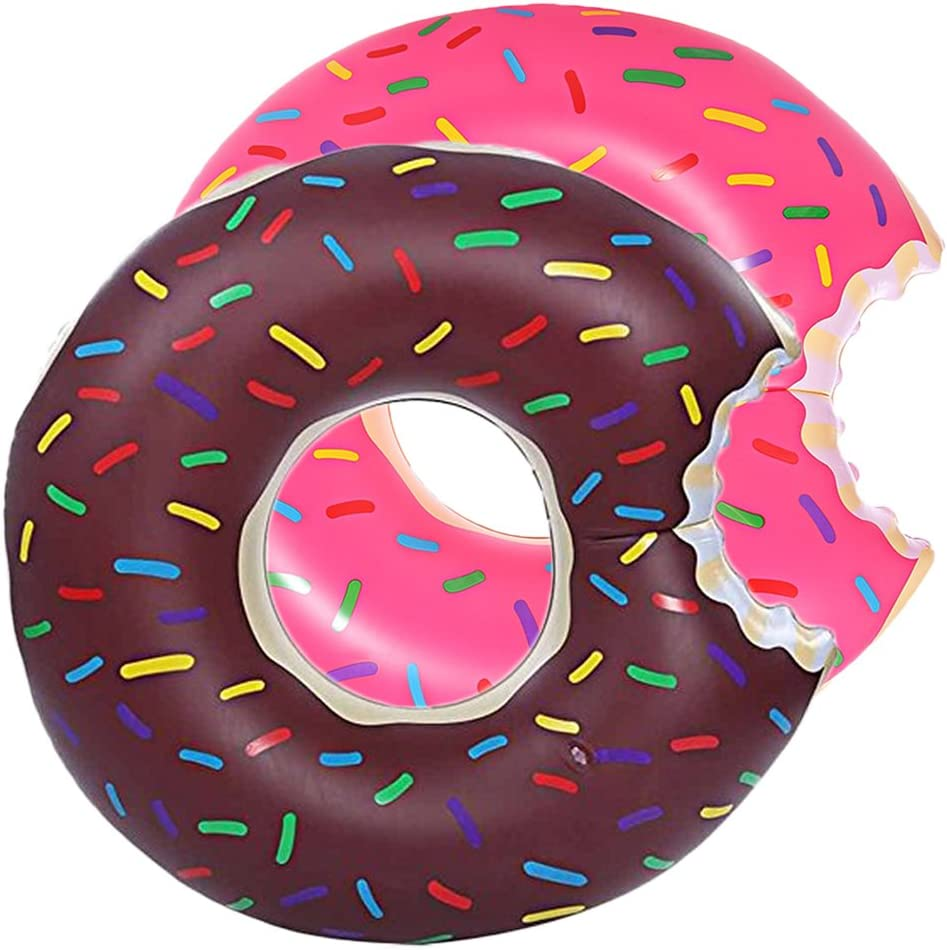 Amazing Sports Donut Matelas Gonflable Marron Taille XXL 120 cm