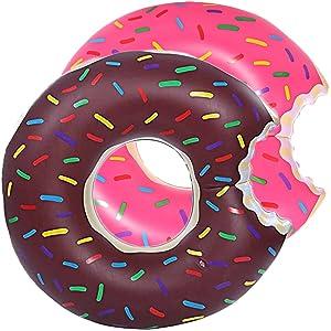 DMAR 60 cm Pool Floats Inflatable Donut Pool Float Swim Rings Single for Kids(1pcs