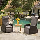 Cheap Ostia Wicker Recliner with Cushion (Set of 2) by Christopher Knight Home