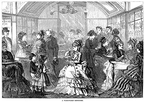 Vienna Pastry Shop 1873 Na Fashionable Conditorei (Pastry Shop) In Vienna Austria Wood Engraving English 1873 Poster Print by (18 x 24)