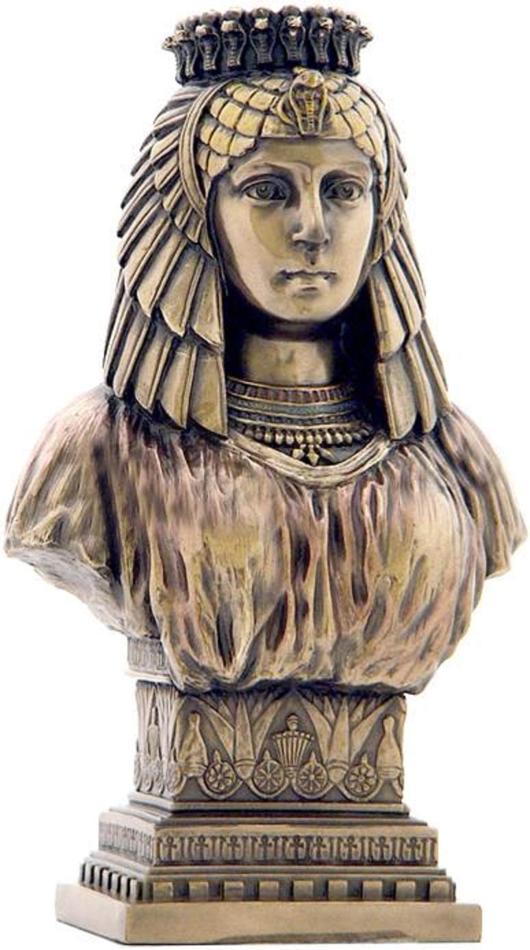 Amazon Com Xoticbrands Art Deco Style Egyptian Queen Bust Egyptian Sculpture Cold Cast Bronze Home Kitchen