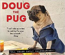 Amazon doug the pug 2017 box calendar 0709786039258 leslie flip to back flip to front m4hsunfo