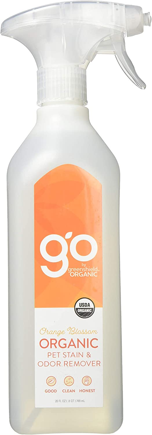 GO by greenshield organic, USDA Certified Organic 26 oz. Pet Stain & Odor Remover- Orange Blossom