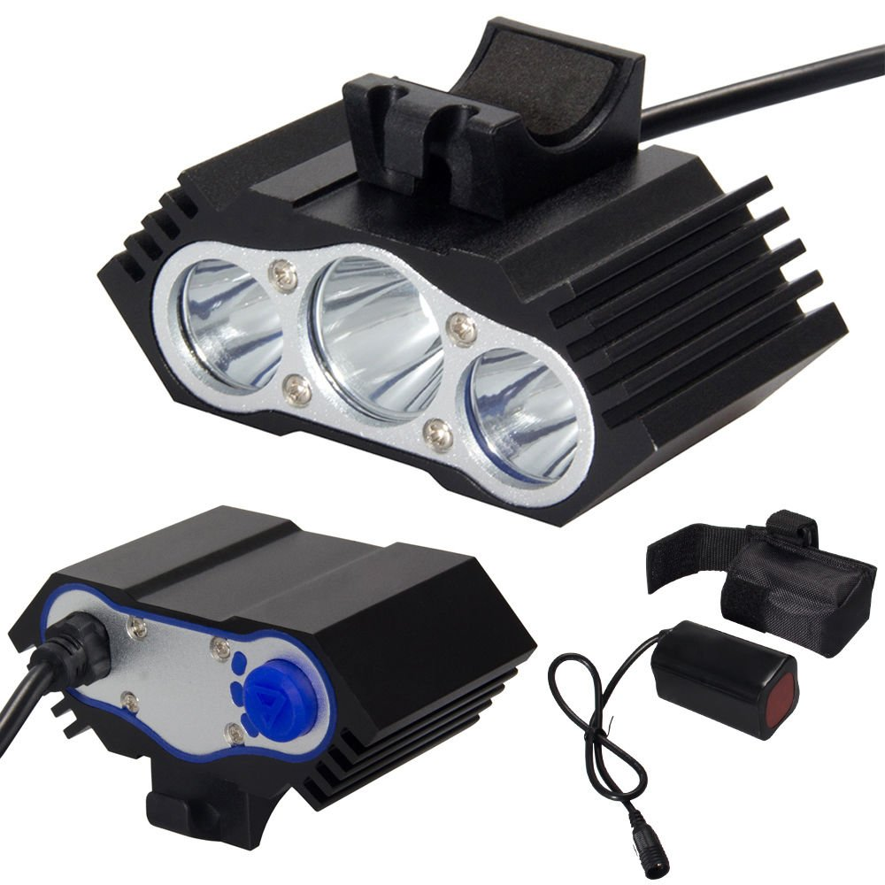 12000Lm 3 x CREE T 6 LED Bicycle Lamp Light Headlight Cycling Torch Rechargeable
