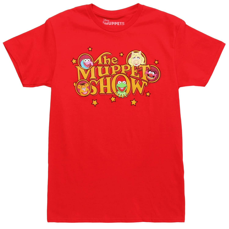 Muppoets Show Retro Logo Adult T-Shirt - Red (Medium) by Mad Engine