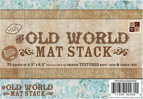 DCWV Old World 4-1/2-inches by 6-1/2-inches Mat Stack, 72 Sheets/Pad (Old World Stack)