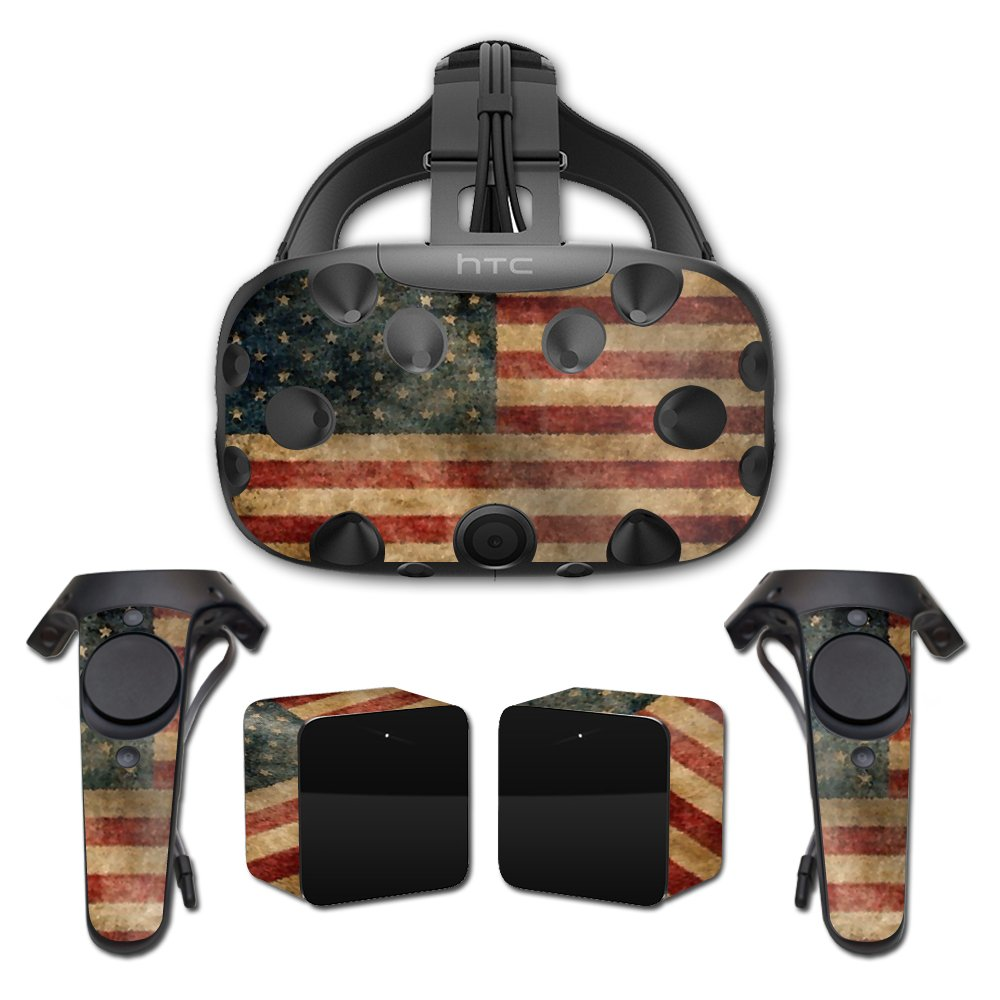 MightySkins Skin for HTC Vive Full Coverage - Vintage Flag | Protective, Durable, and Unique Vinyl Decal wrap Cover | Easy to Apply, Remove, and Change Styles | Made in The USA