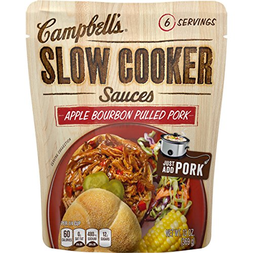(Campbell's Slow Cooker Sauces, Apple Bourbon Pulled Pork, 13 Ounce (Pack of 6))
