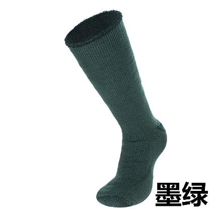 Cálidos calcetines de lana terry calcetines hombre de cilindro largo