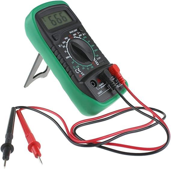 Color : Green Topsale-ycld XL830L Multimetro Retroilluminazione Multimetro Digitale LCD Voltmetro Amperometro AC DC Ohm Volt Tester Corrente di Prova