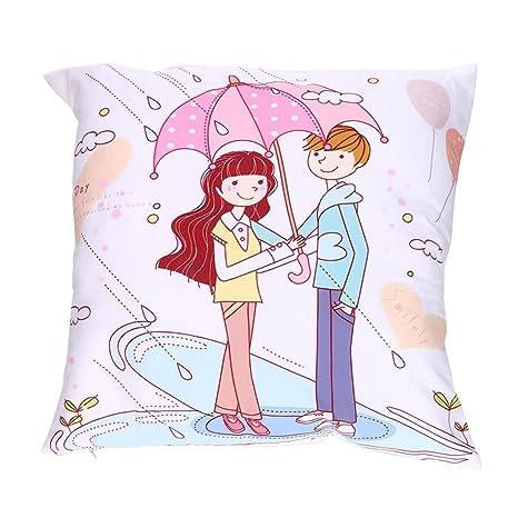 Día de San Valentín impresión fundas de almohada poliéster ...