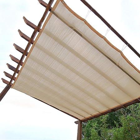 Tela de sombra Pérgola Patio Cubierta de Sombra Beige Tela Rectangular de Sombra de Sol con Ojales, Terraza al Aire Libre/Sun Room/Patio Trasero, Cifrado 90% Bloqueador Solar (Size : 3×6m): Amazon.es: Hogar