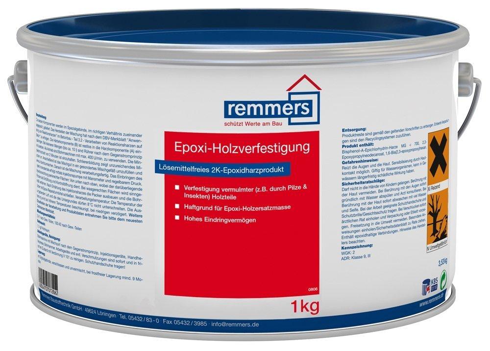 Top Remmers Epoxi-Holzverfestigung, farblos, 1 kg: Amazon.de: Baumarkt EH56
