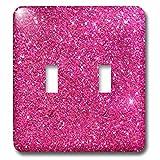 3dRose (lsp_272826_2) Double Toggle Switch (2) Sparkling Pink Luxury Shine Girly Elegant Mermaid Glitter