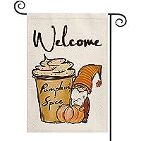 AVOIN colorlife Welcome Fall Pumpkin Garden Flag Vertical Double Sided, Spice Gnome Mini Flag, Autumn Seasonal Harvest…