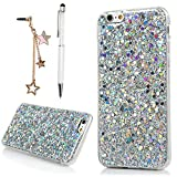 "Image of iPhone 6 Case, iPhone 6S Case (4.7""), YOKIRIN Luxury Sparkle Powder 3D Diamond Paillette Bling Slim Glitter Flexible Soft Rubber Gel TPU Protective Shell Hybrid Bumper Case Cover - Silver"