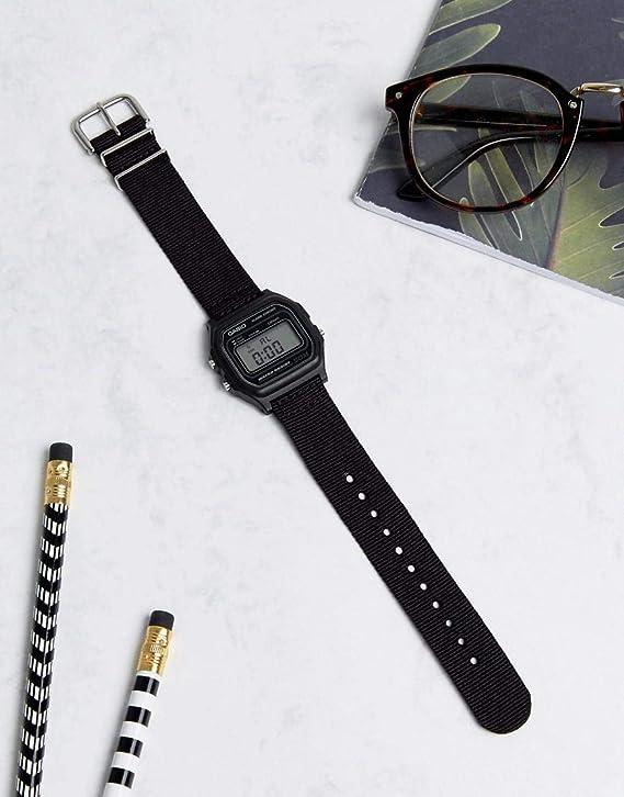 Casio Hommes Digital Quartz Montre avec Bracelet en Tissu W X8Xkl