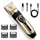 rabbitgoo Dog Grooming Clippers, Rechargeable Pet Hair Trimmer Set, Professional Electric Shaver Hair Remover Kit with 4…