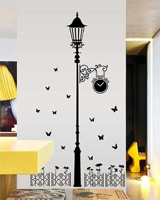Amazon Com Yuelian Diy Wall Decor Art Home Bedroom Dining Room Stickers Black Home Kitchen