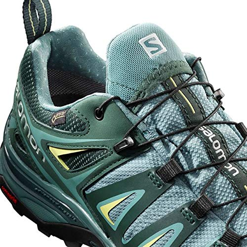 Salomon X Ultra 3 GTX Hiking Boot - Womens, Artic/Darkest Spruce/Sunny Lime, Wide, 6, L40661000-6 by Salomon (Image #2)