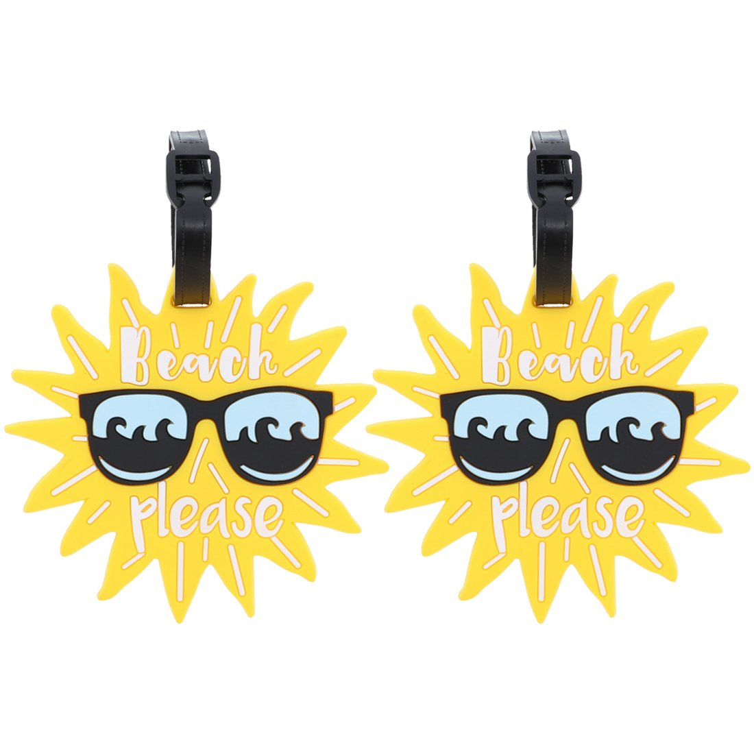 Beach Please Luggage Tag Suitcase ID Holder - Set of 2 SandT Collection 2STLT0032YL