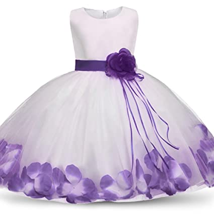 ffeei Moda Niños Niñas Bowknot Princess Dress Kid Party Desfile De Dama De Honor De La