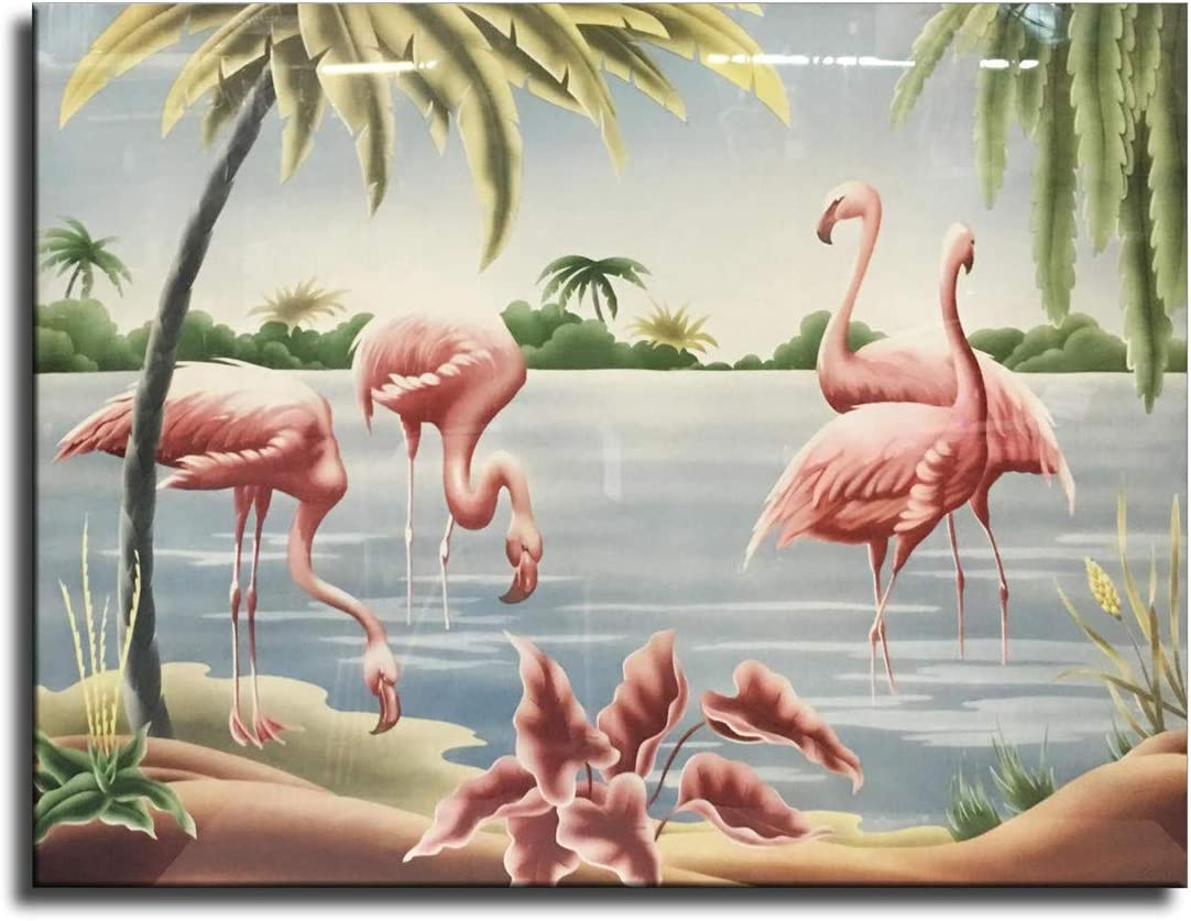 FINDEMO Flamingo Tango by Turner Poster Painting on Canvas Bedroom Wall Art Decoration Pictures Home Decor -385 (unframed,24x36inch(60x90cm))