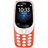 "Nokia 3310 3G Factory Unlocked Phone (AT&T/T-Mobile) - 32MB - 2.4"" Screen - Warm Red (U.S. Warranty)"
