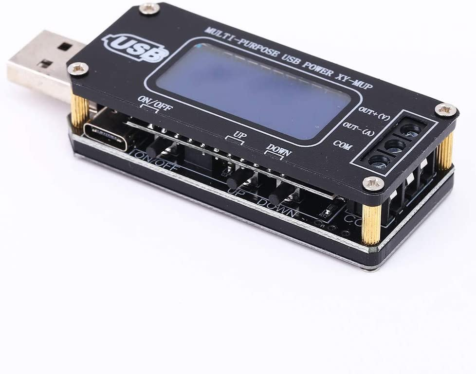 PEMENOL DC-DC USB Step UP/Down Power Supply Module 3.5V-12V to 1.0V-24V Adjustable Boost Buck Converter Voltage Regulator Board Digital Display Voltmeter Ammeter Power Time Battery Capacity Tester