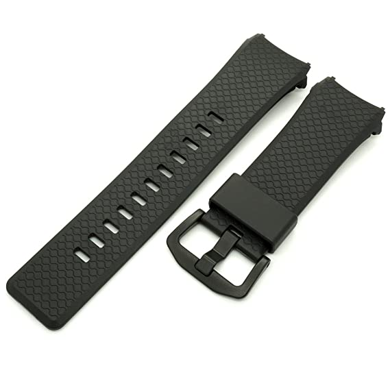 Casio Reloj Banda Correa Smart Pro Trek WSD-F10 wsdf10bk wsdf10gn wsdf10rd, Negro: Amazon.es: Relojes