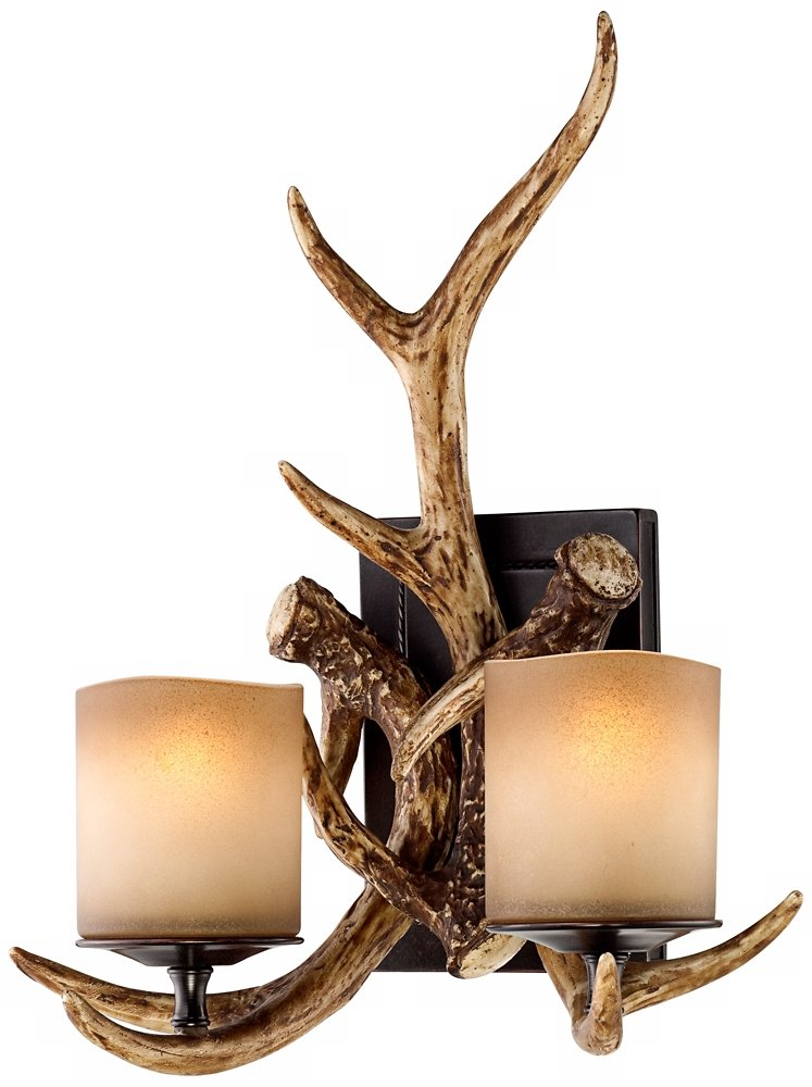 wall antlers sconce by type lowes light decor antler real shelves candle vintage deer sconces