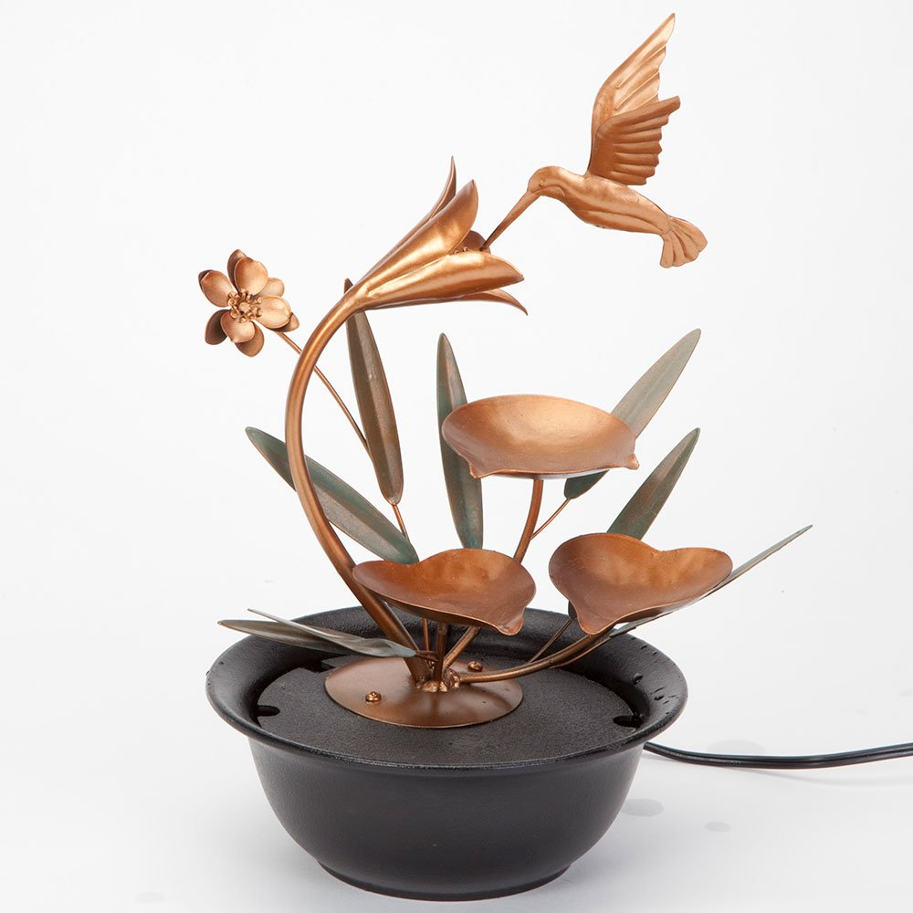 Bits and Pieces - Indoor Hummingbird Lily Fountain - Zen Tabletop Water Fountain by Bits and Pieces (Image #6)