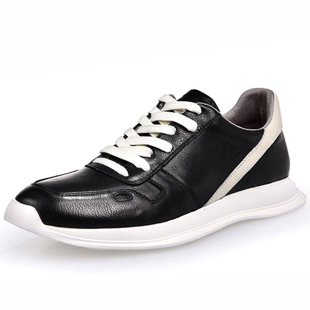 GoldGOD Herrenschuhe Weiße Schuhe Herren Lederschuhe Turnschuhe Wilde Freizeitschuhe Gezeiten Schuhe Sport Freizeitschuhe,schwarz,43