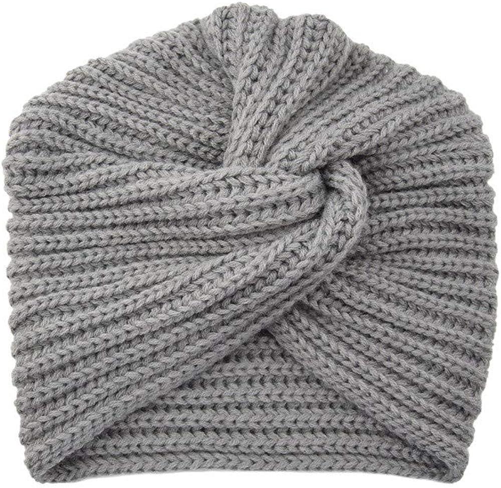 Sombreros Crochet Mujeres del Invierno Gorro Tejer Beanie Diadema Casquillos Calientes Salvaje Simple Casuales Gorras para Mujeres Fannyfuny