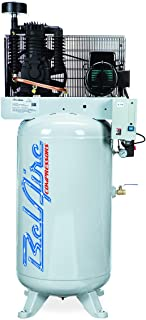 product image for BelAire 218V 5 HP 80 Gallon 1-Phase Vertical 2 Stage Air Compressor