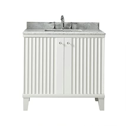 d216f683ae9 W x 22 in. D Vanity in White with Marble Vanity Top in White with White  Basin - - Amazon.com