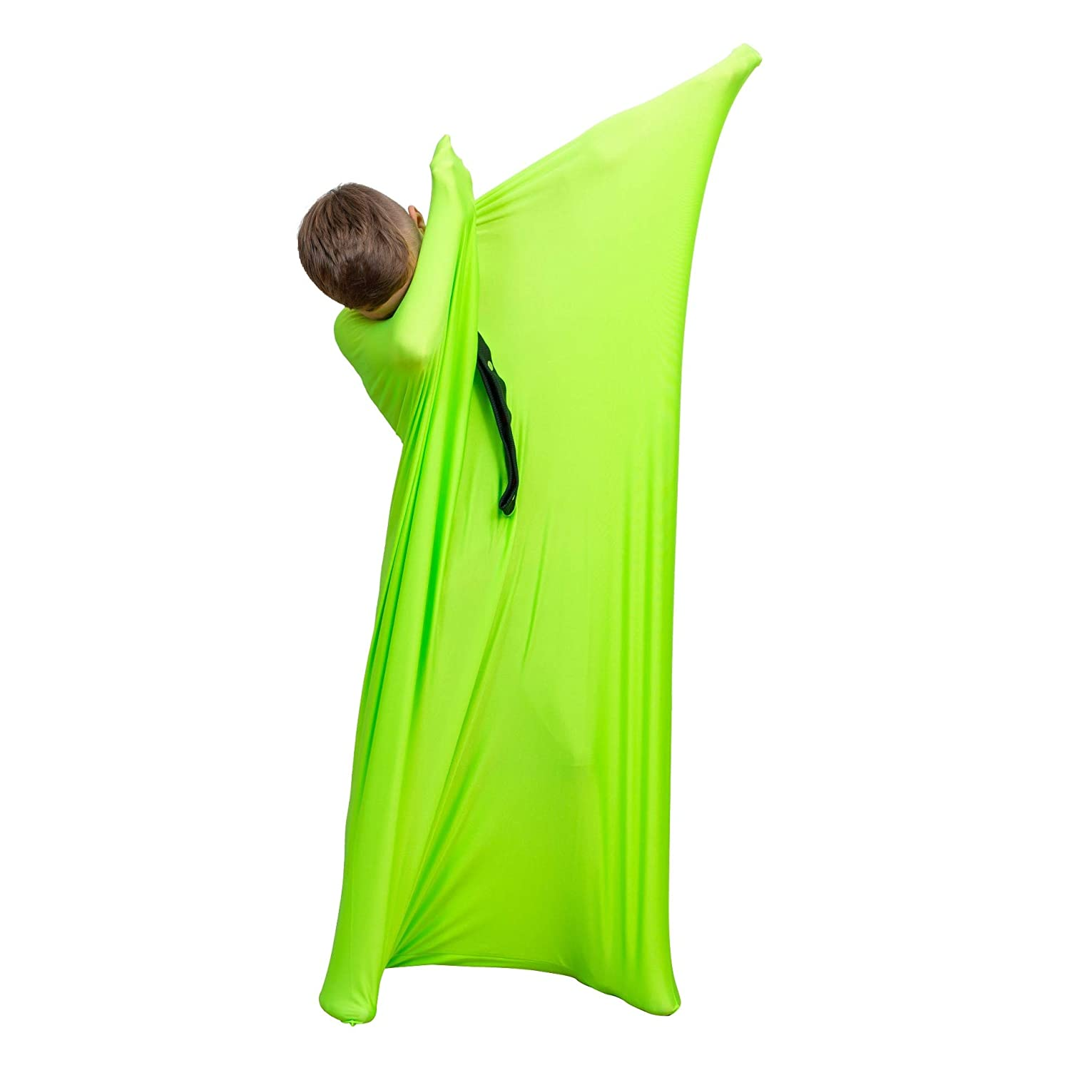 Anxiety Full-Body Wrap Sensory Stretchy Body Sock for Individuals with Autism Deep Pressure Simulation Body Blanket Snap Closure Large 56x27, Blue