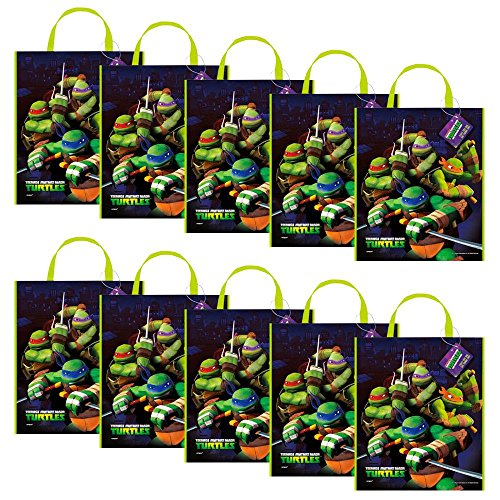 [Ninja Turtles Tote Bag 13'' X 11'' (Set of 10)] (Ideas For Halloween Costumes For Teenage Girl)