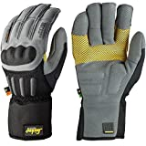 Snickers 95774804008 ''Grip'' Power Gloves, 8, Grey/Black