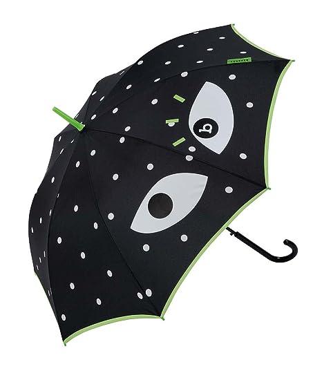Paraguas Largo de Mujer Bisetti Ojo Negro/Verde