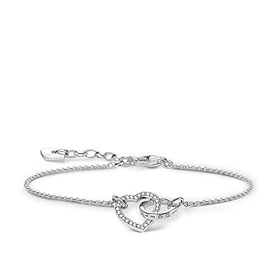 Thomas Sabo Women Silver Hand Chain Bracelet - A1648-051-14-L19v dYTvN