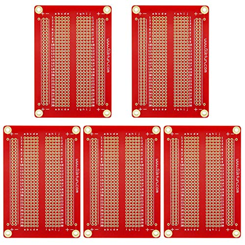 Gikfun Solder-able Breadboard Gold Plated Finish Proto Board PCB DIY Kit for Arduino (Pack of 5PCS) - Prototype Board